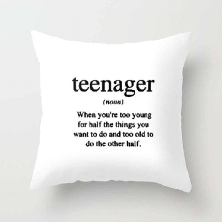 Teenager. Throw Pillow by Sjaefashion   Society6 – 2019 - Pillow Diy