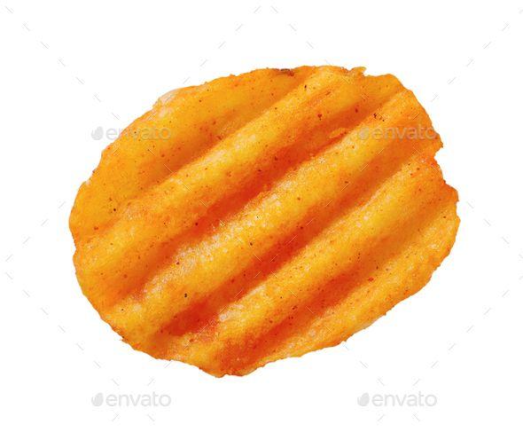 fried potato chip by Vikif fried potato chip on white background