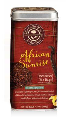 African Sunrise Tea Bags Honeybush Tea Leaves African Sunrise