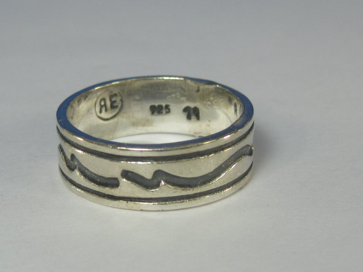 Vintage Sterling Silver Mens Band Ring Size 11 AE by