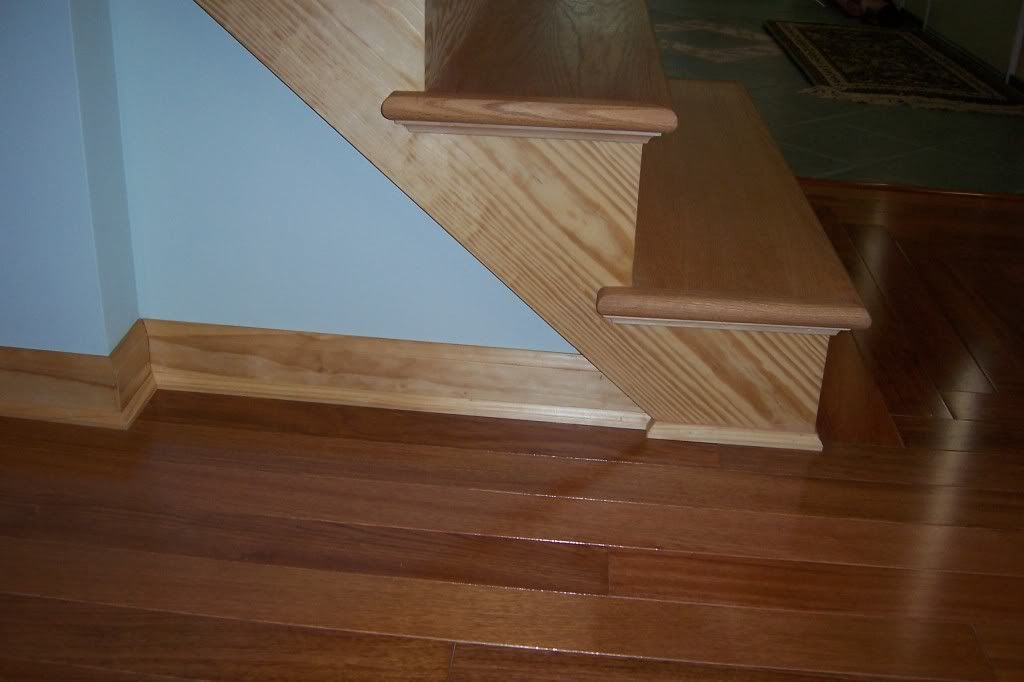 Baseboard molding - Golden Oak Furniture With Thornton Sage (behind China Cabinet) And