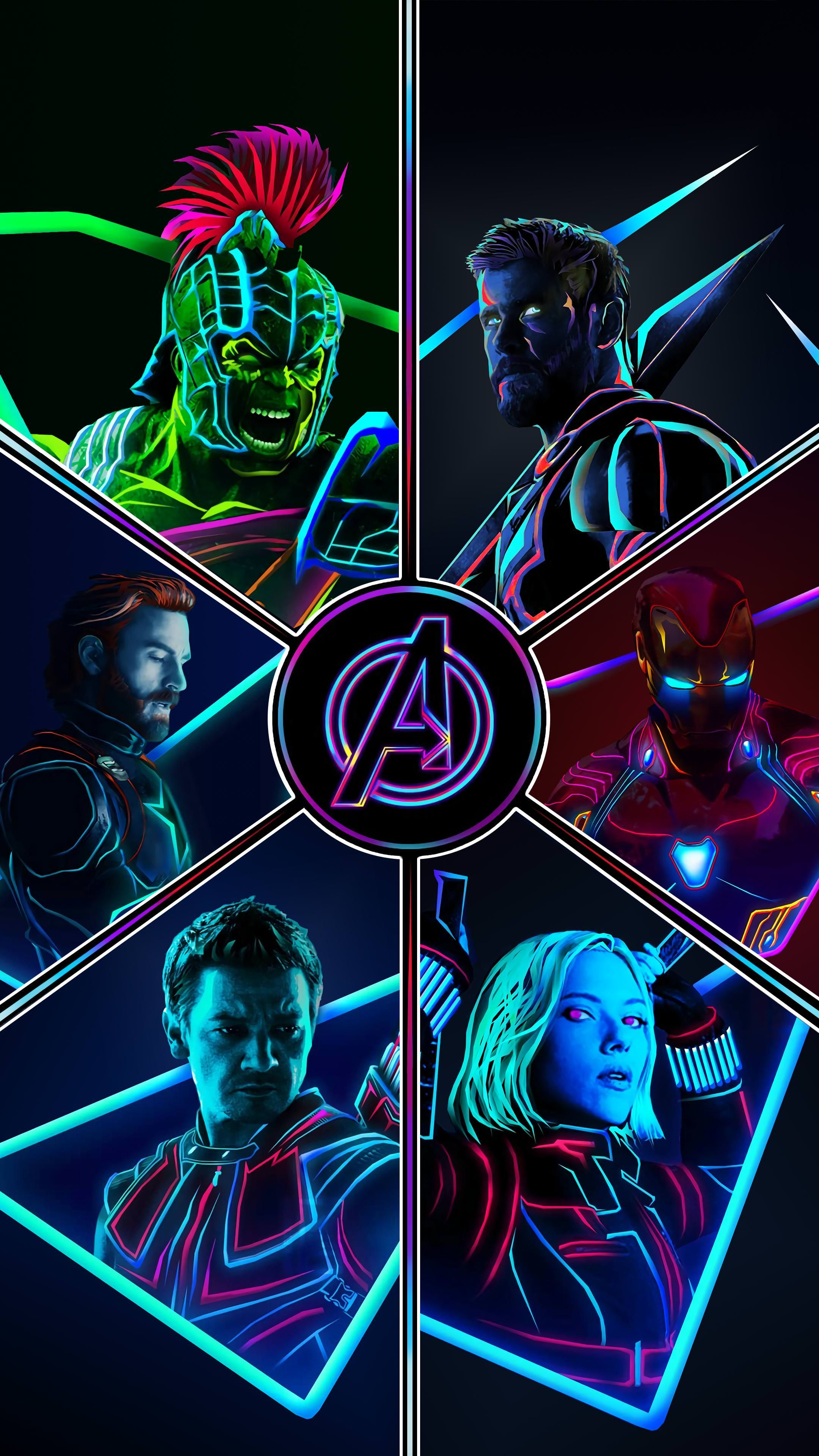The Latest Aniketjatav Neon Post Of The Original 6 Sparked A Lot Of Requests For Wallpapers I Made Som Marvel Wallpaper Marvel Superheroes Avengers Wallpaper
