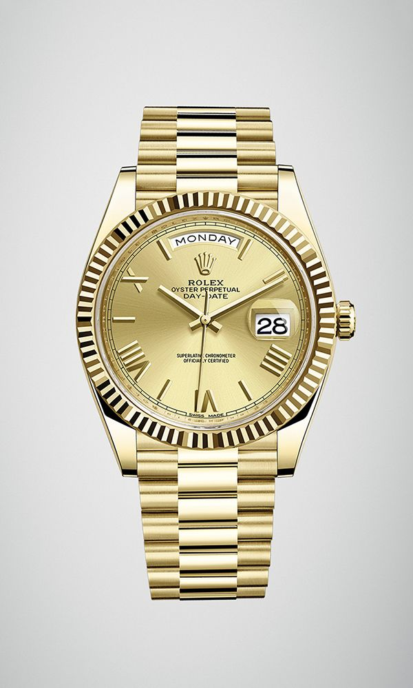 Rolex Day-Date 40 in 18ct yellow gold with a fluted bezel bc20e22cc4