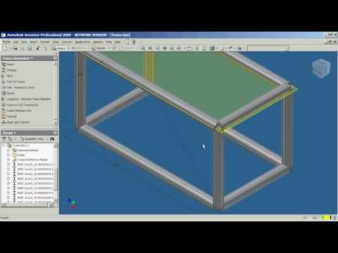 Autodesk Inventor Professional - Frame Generator - Part 1 - YouTube ...