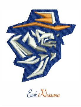 Utep Miners Football Logo Embroidery Design Embroidery Logo Broncos Logo Embroidery Designs