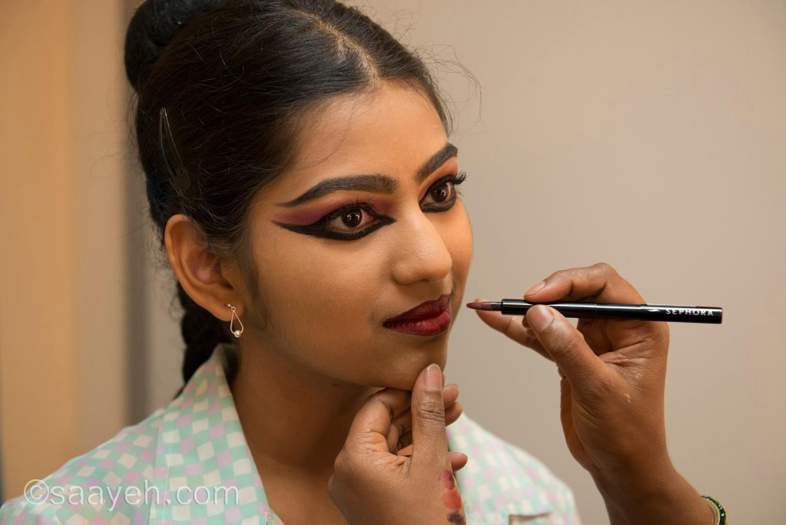 Bharatanatyam Eye Makeup Classical Dance Make Up Hair