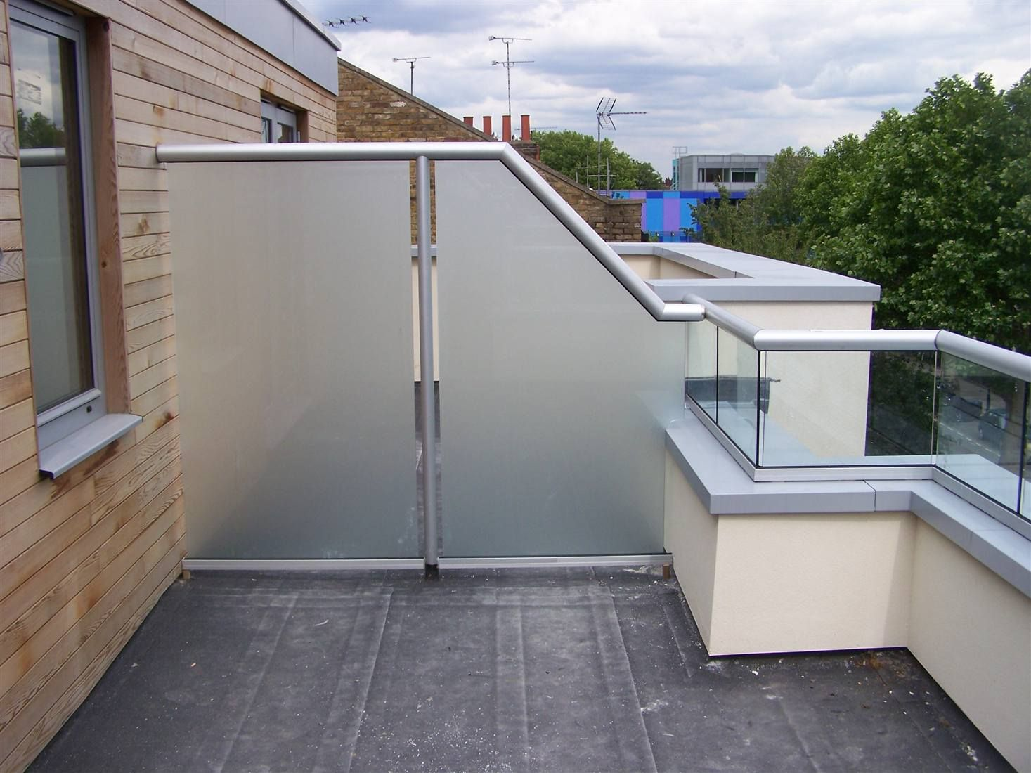 Barade Privacy Screen Satinised Balcony privacy, Privacy