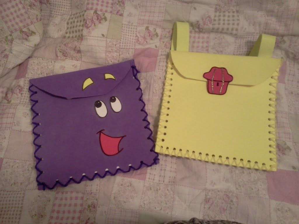 dora the explorer and blues clues treasure hunt backpacks i made