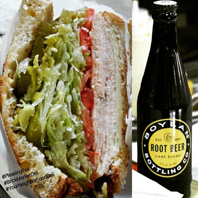 Try our Turkey & Cheese sandwich with our Boylan Bottling Company Root Beer!