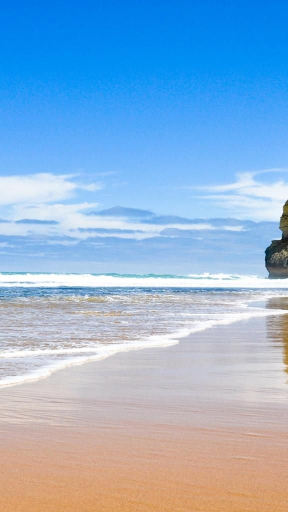 iPhone X 4k Wallpaper beach sand ocean blue Beach