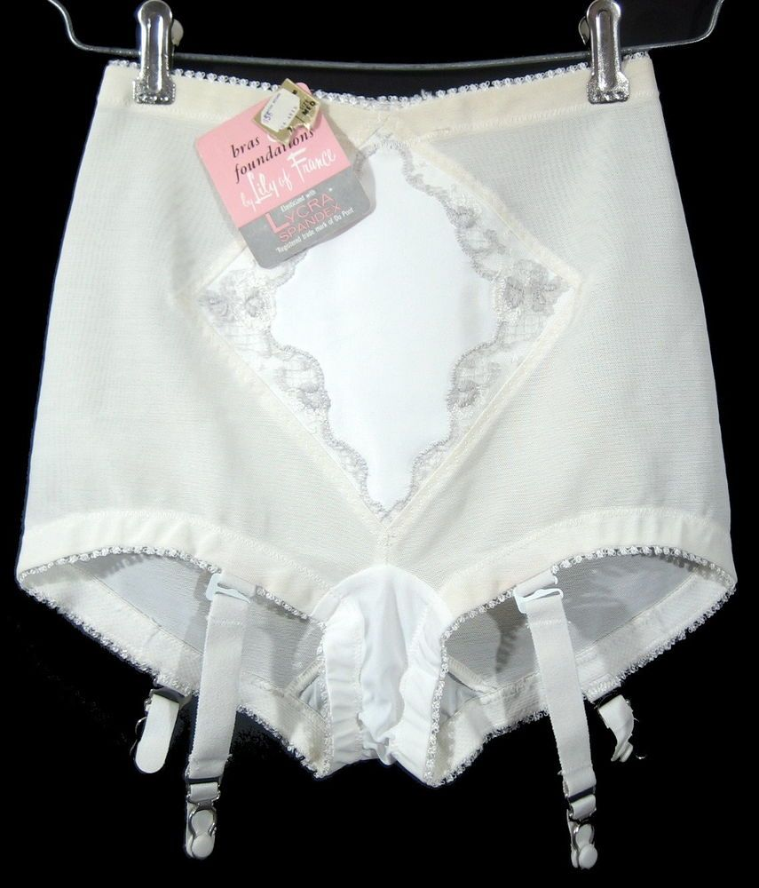 aa7b2a02054 Vintage UNWORN LILY OF FRANCE PANTIES Lycra Spandex Enhance Panty Girdle  Garters  LilyofFrance  SpecialOccasion
