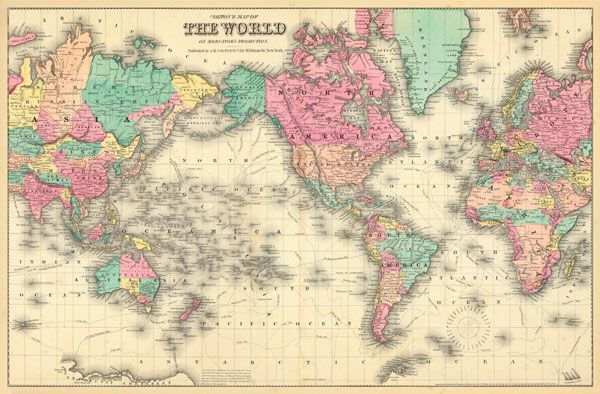 Colorful World Map Wall Mural Oh Baby Pinterest Wall Murals - Colorful world map painting