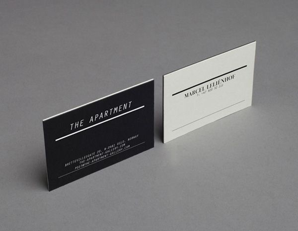 The apartment gallerys minimalist business cards the business the apartment gallerys minimalist business cards the business cards are made of black and white reheart Images