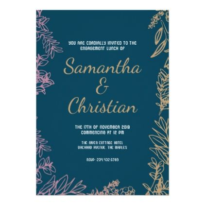 colorful engagement lunch party invitation in 2018 engagement