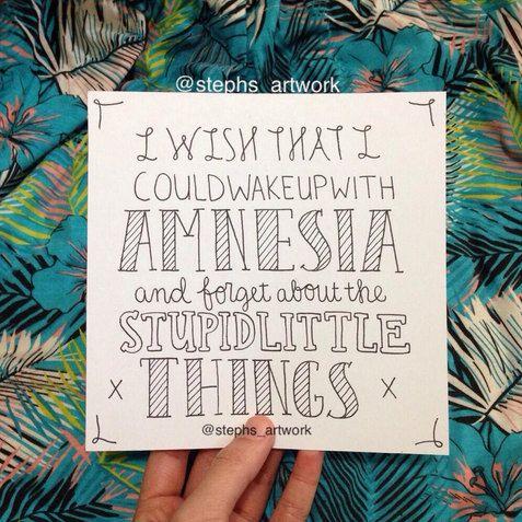 5SOS Amnesia Lyrics by StephsArtworks on Etsy