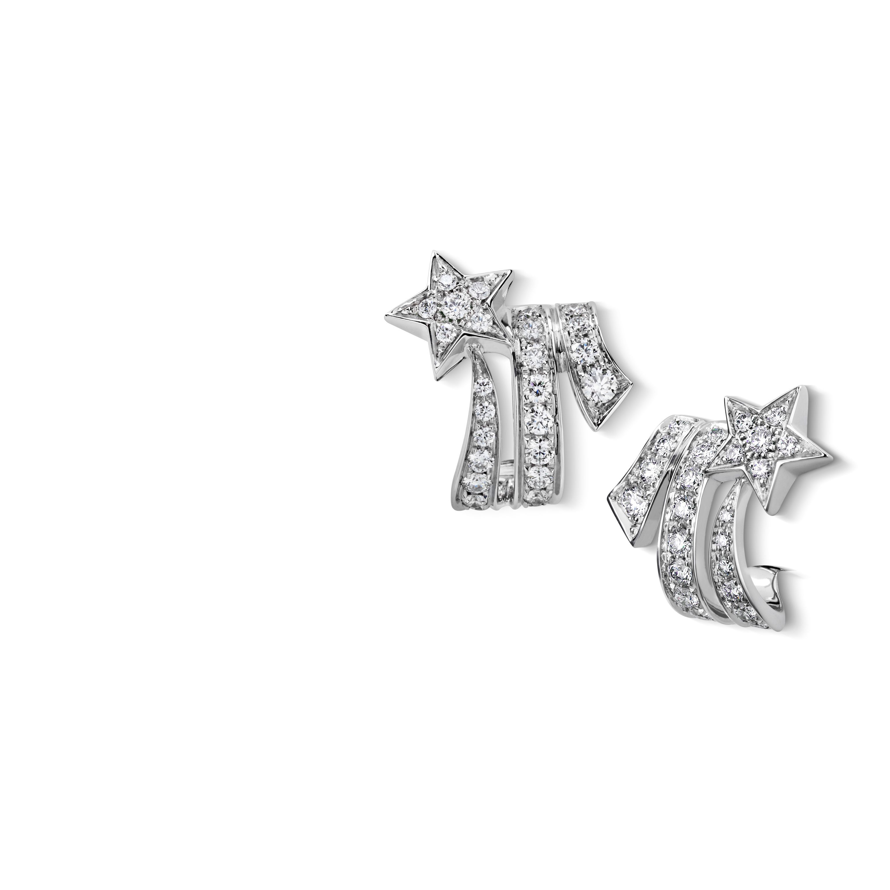 b3f92486e Comète earrings - Shooting star earrings in 18K white gold and diamonds  J10814 at the CHANEL Fine Jewelry website.