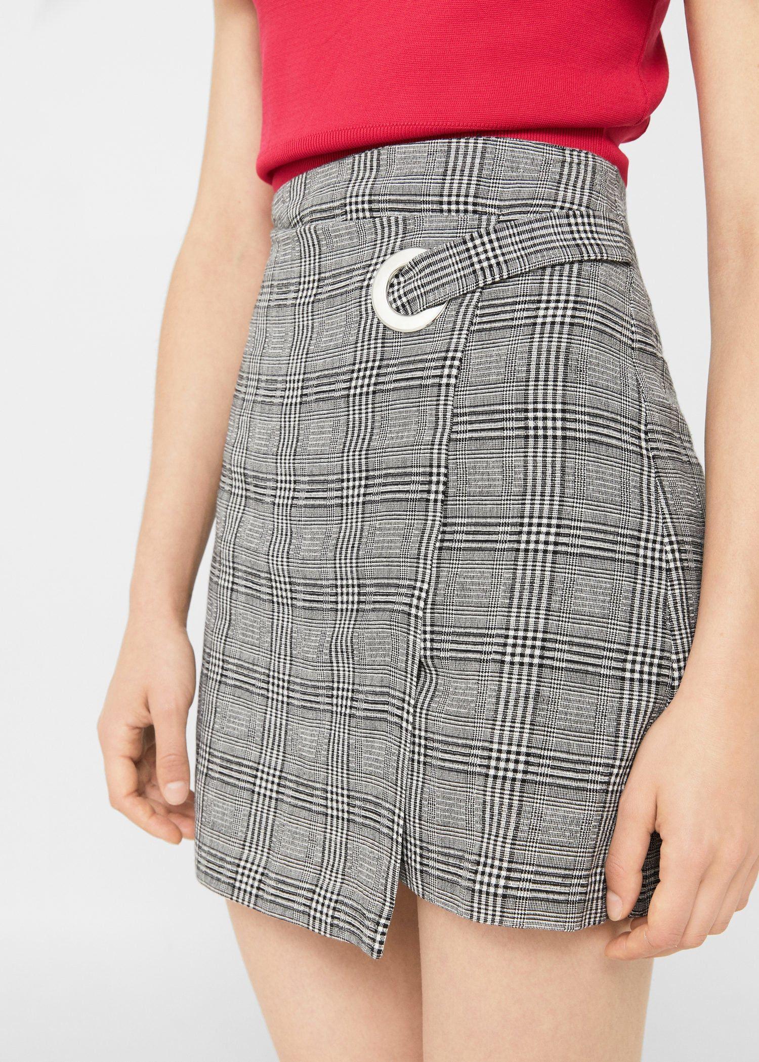 851f4c02dc Check wrap skirt - Woman in 2019 | Φούστες | Skirt fashion, Fashion ...