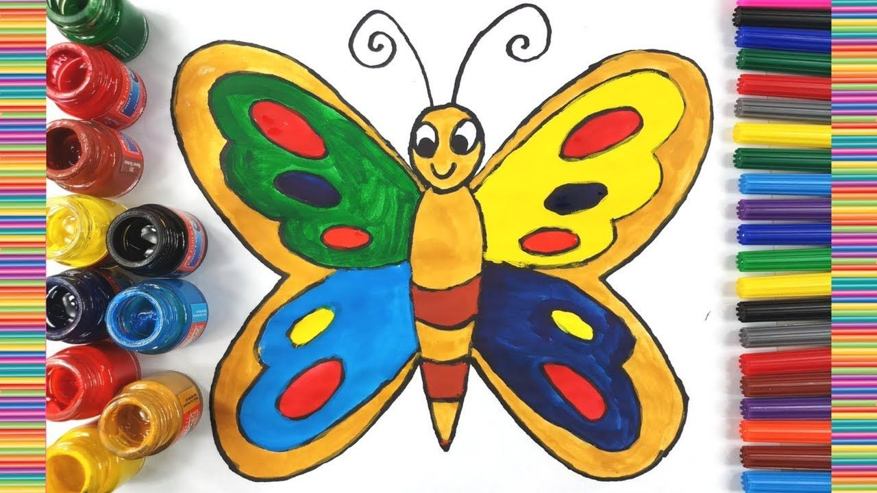 How To Draw Butterfly Easy Butterfly Coloring Pages For Kids Learn W Butterfly Drawing Butterfly Coloring Page Coloring Pages