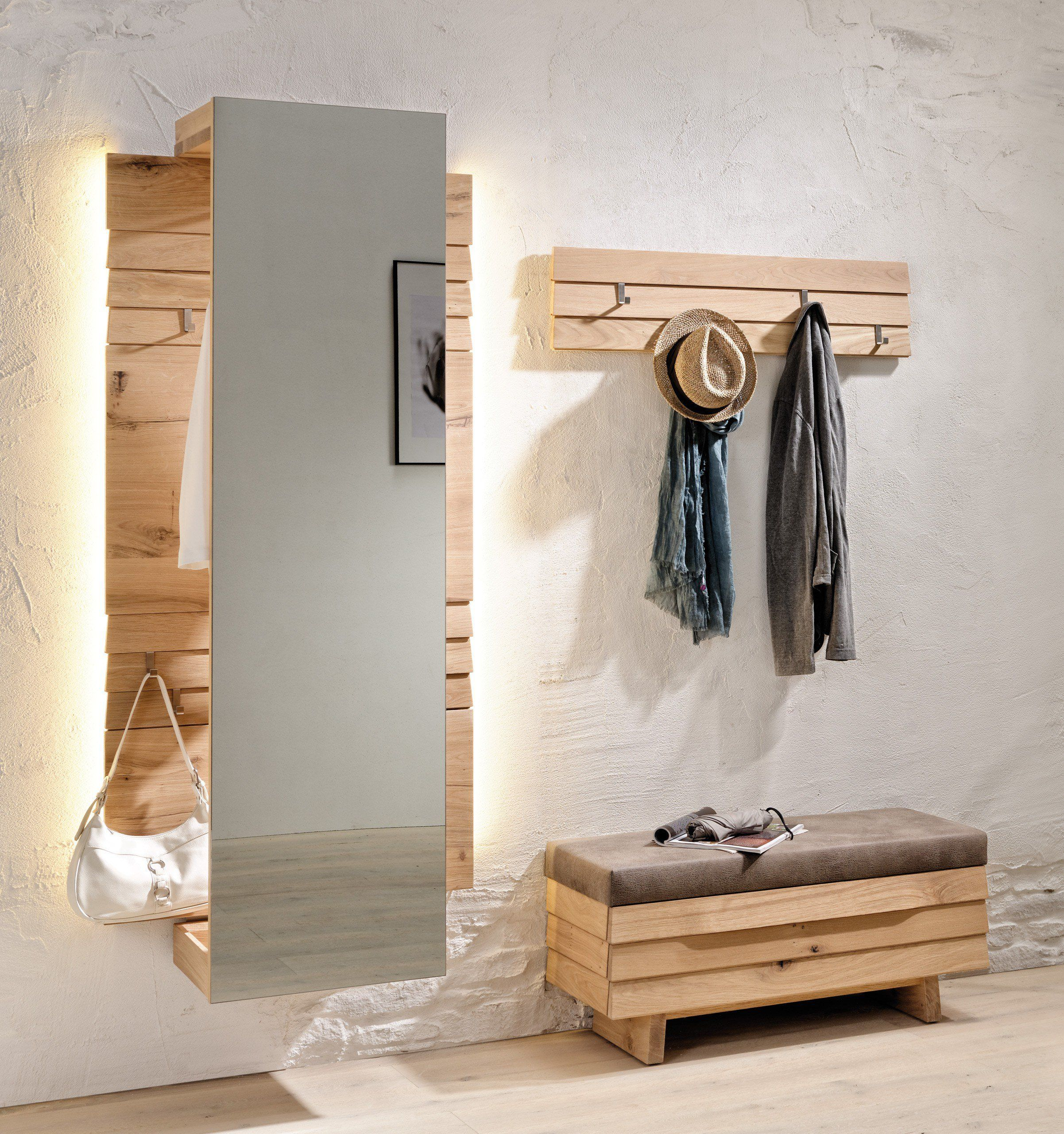 V Organo Von Voglauer Garderobe In Wildeiche Spiegel Dekor