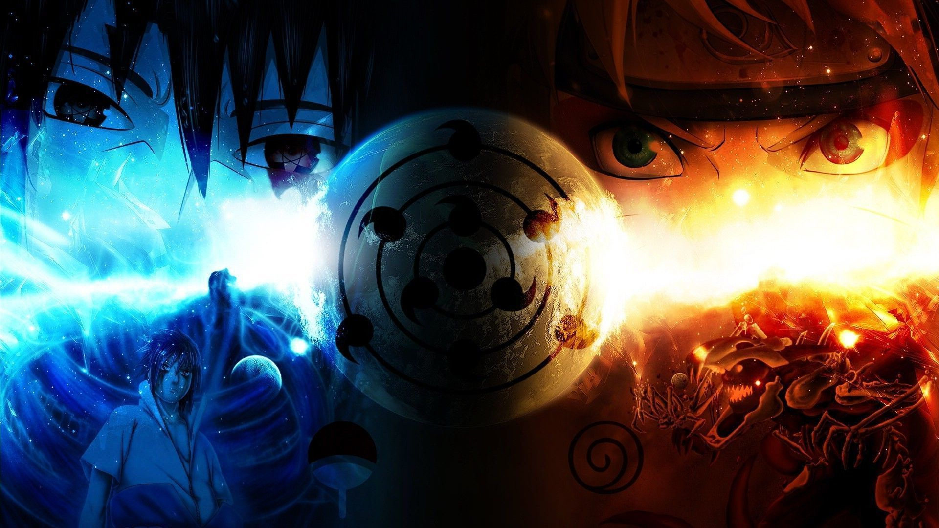 Naruto Fire And Ice Hd Anime Wallpaper Desktop Wallpapers K High Papel De Parede Naruto Tela Pc Naruto