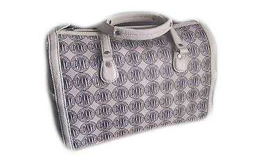 Dkny handbag #ivory #cream with blue dkny print #bowling bag,  View more on the LINK: http://www.zeppy.io/product/gb/2/191802856773/