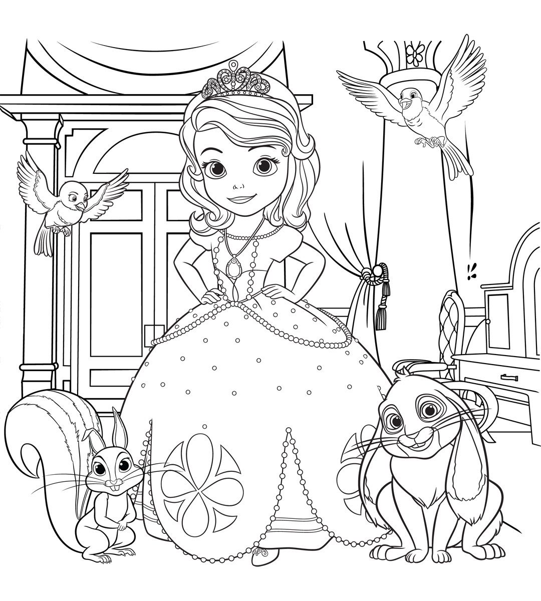 Sofia the First coloring pages for girls to print for free ...