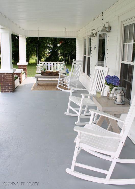 The Front Porch Modern Farmhouse Porch Porch Makeover Rocking