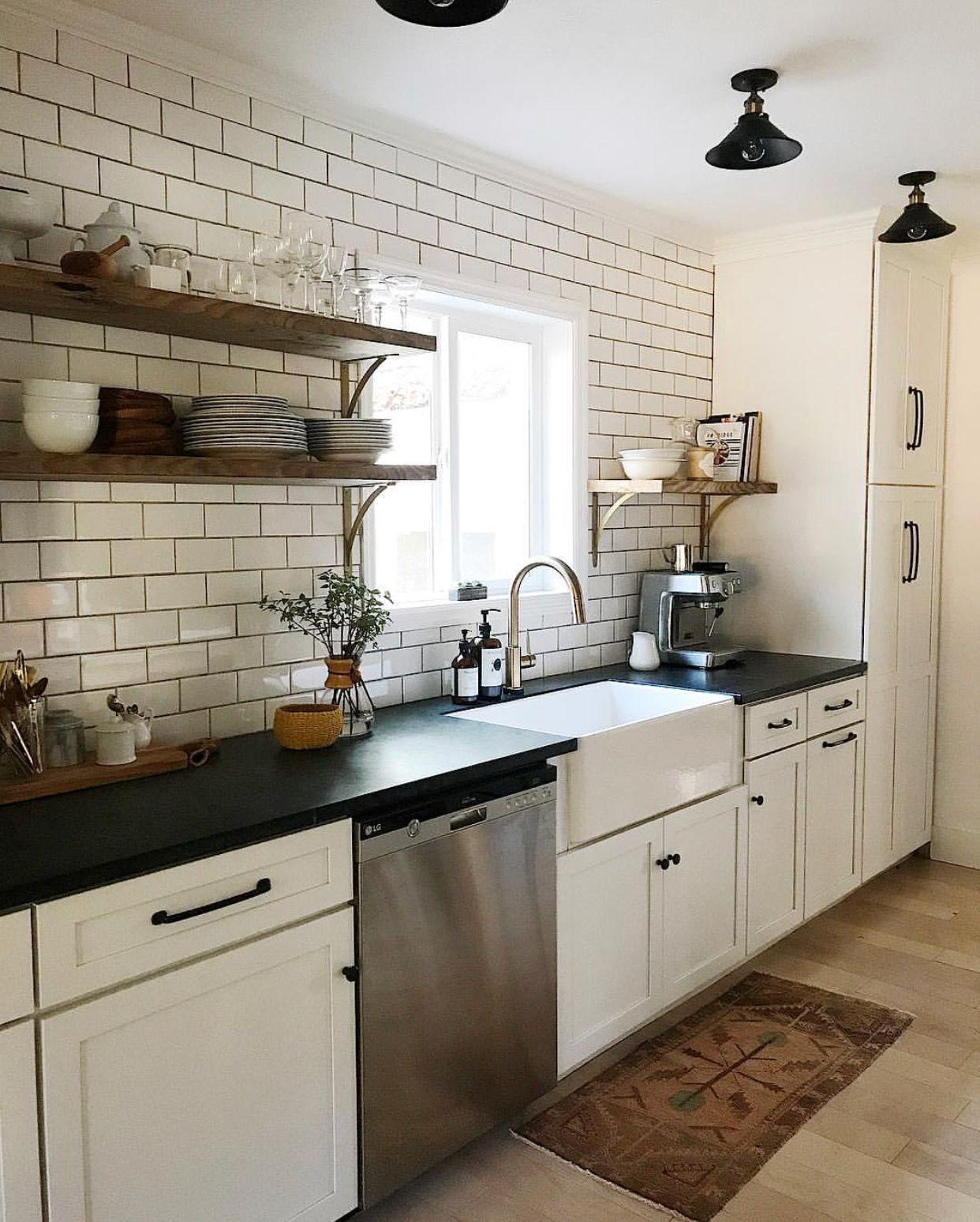 tiled walls open shelving kitchen remodel small galley kitchen design small galley kitchen on kitchen remodel ideas id=23963