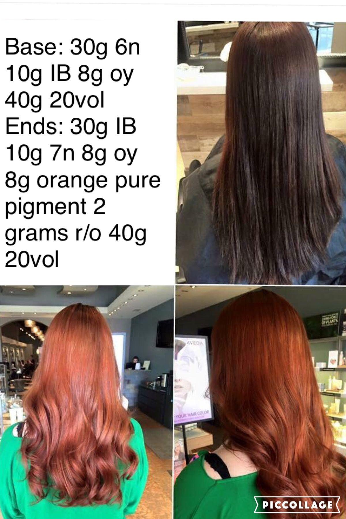 Red Formula Aveda Hair Color Red Hair Color Hair Color Formulas