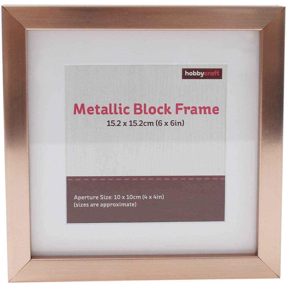 Rose Gold Metallic Block Frame 6 X 6 Inches Frame Gold Metal Metal
