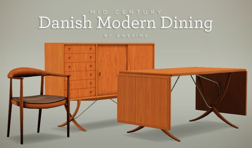 mid century modern dining and style set sims 3 download. danish modern dining set - free sims 3 downloads by awesims mid century and style download i