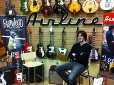 Shortly after graduation, Show Production & Event Management grad (2011), Vince Schaljo, started to work as a guitar technician for Eastwood Guitars