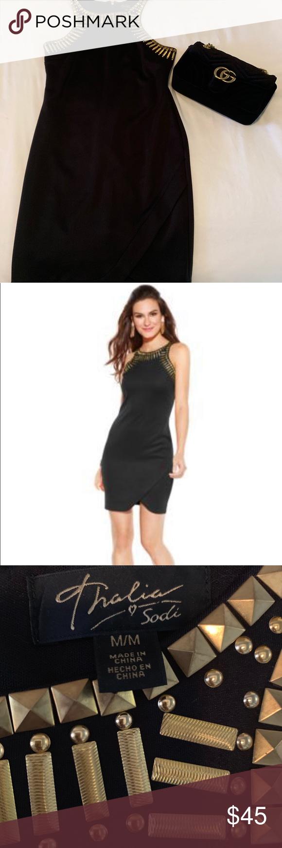Nwot Thalia Sodi Black Dress Black Dress Black Sleeveless Dress Thalia Sodi [ 1740 x 580 Pixel ]