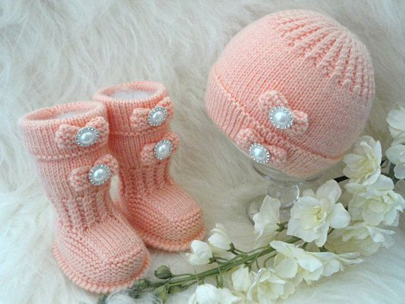 Knitting PATTERN Baby Shoes Baby Booties Baby Hat Baby Beanie Baby ...