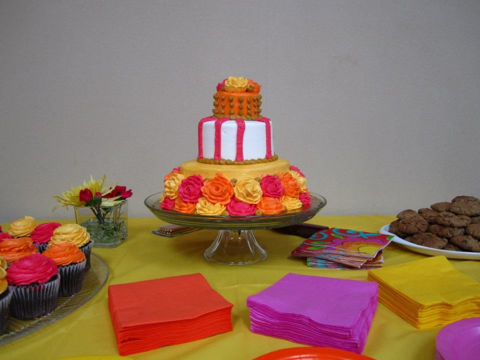 This was LCWC Volunteer, Clara's 90th birthday party color scheme!