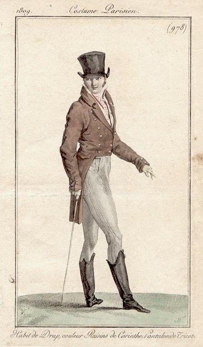 Rather a dandy chap 1809 Costume Parisien