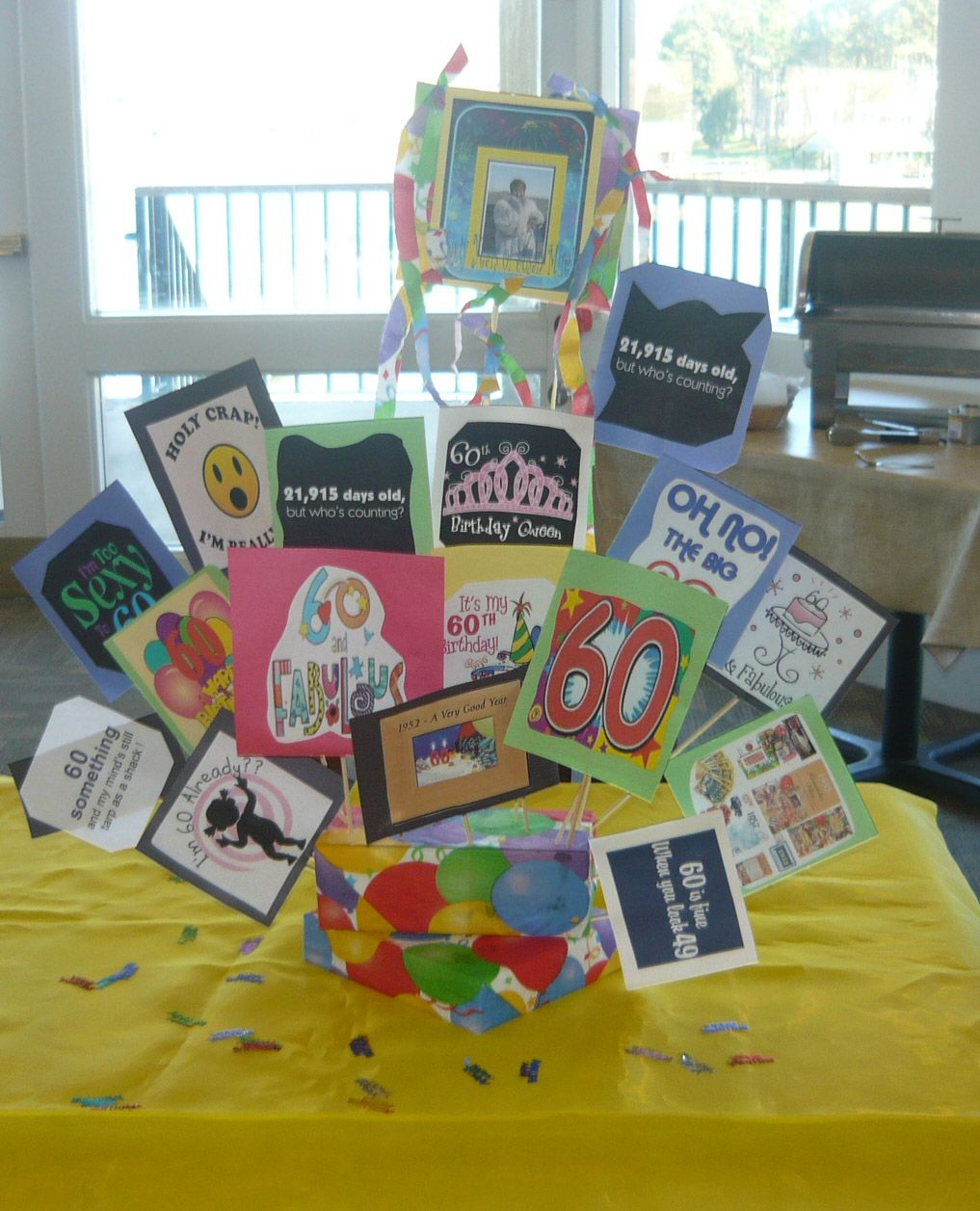 60th Birthday Table Decoration Idea Celebration Ideas For Dad