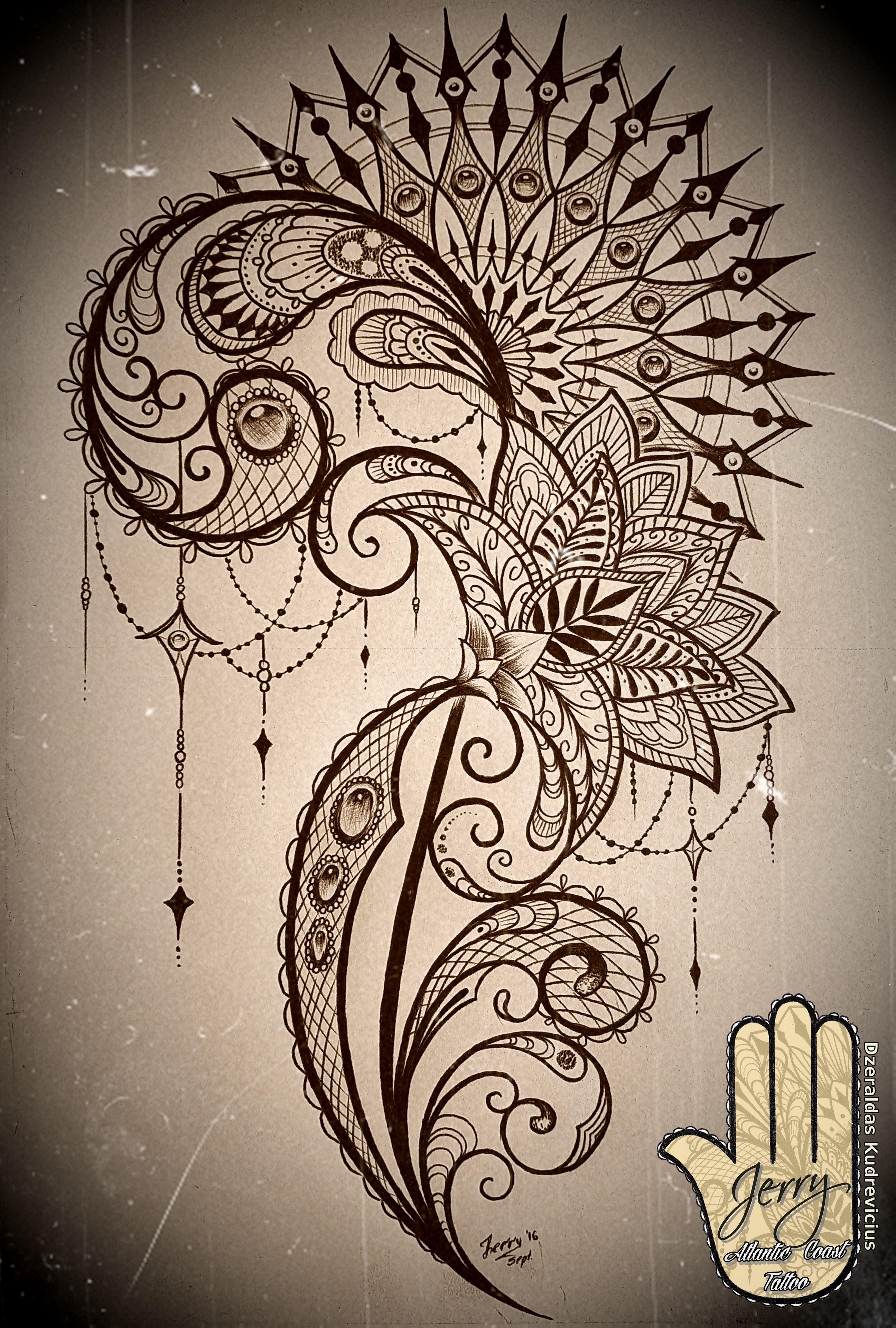 Heart Shaped Dreamcatcher Drawing