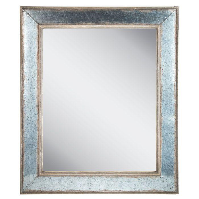 Galvanized Metal Wall Mirror Galvanized Metal Wall Mirror Wall Farmhouse Wall Mirrors
