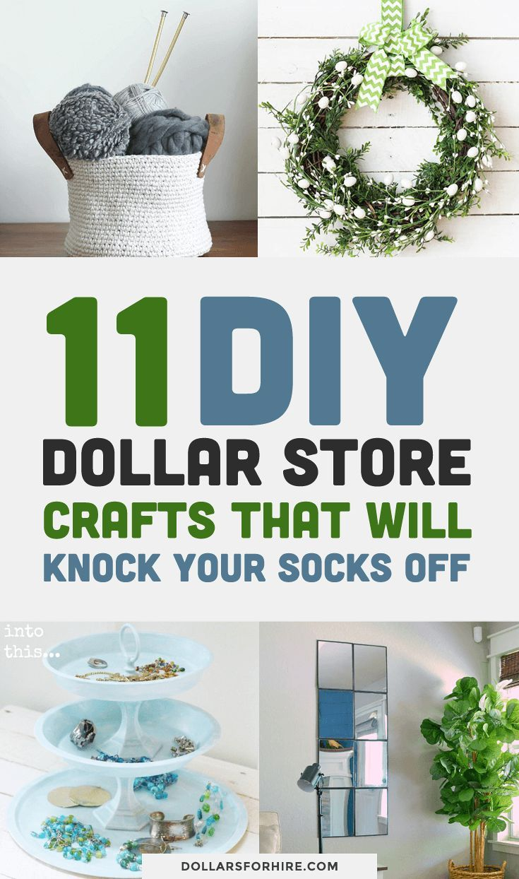 11 DIY Dollar Store Crafts That Will Knock Your Socks Off -   20 dollar store crafts