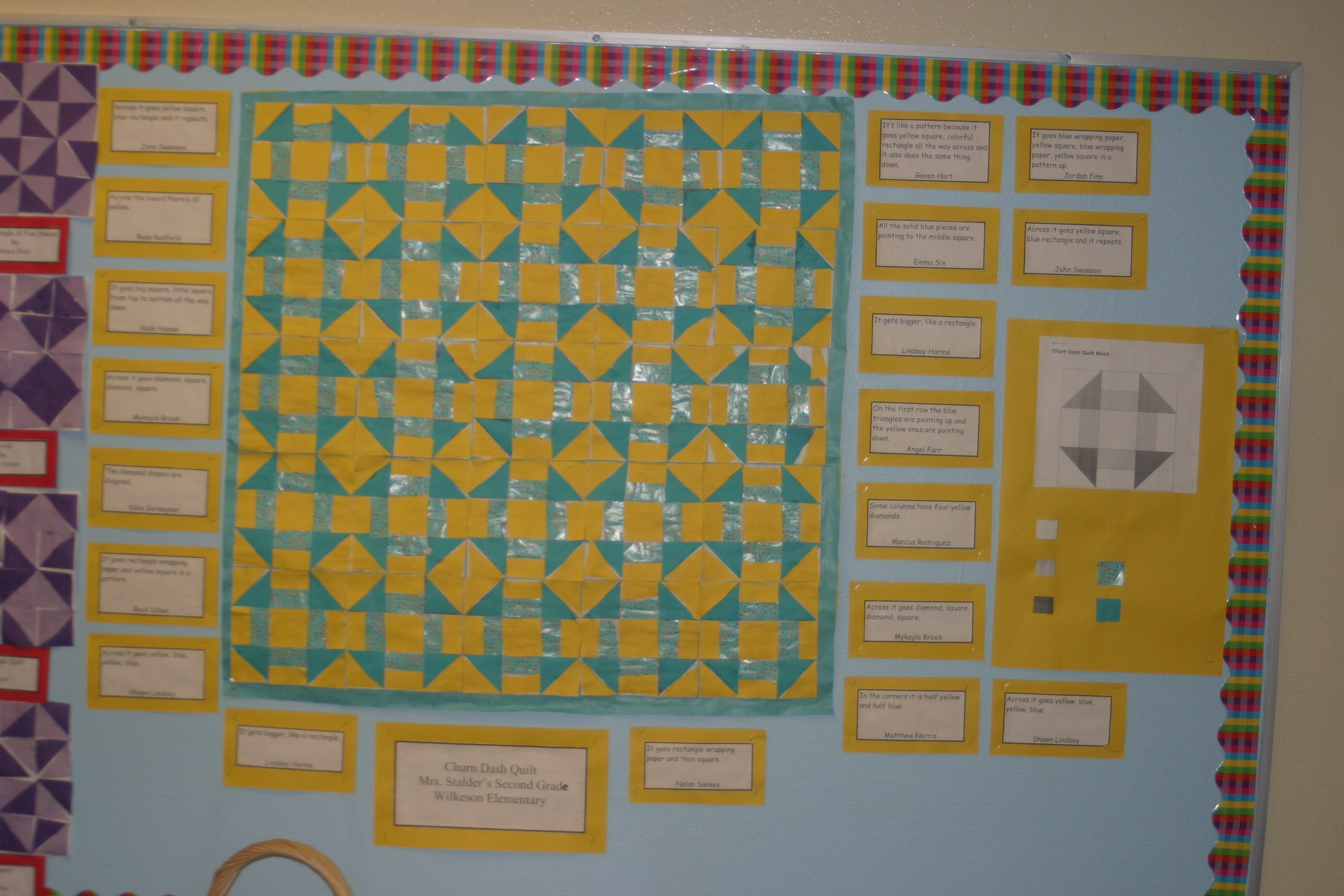 Bridges Math 2nd Grade Paper Quilt Built By Kids With