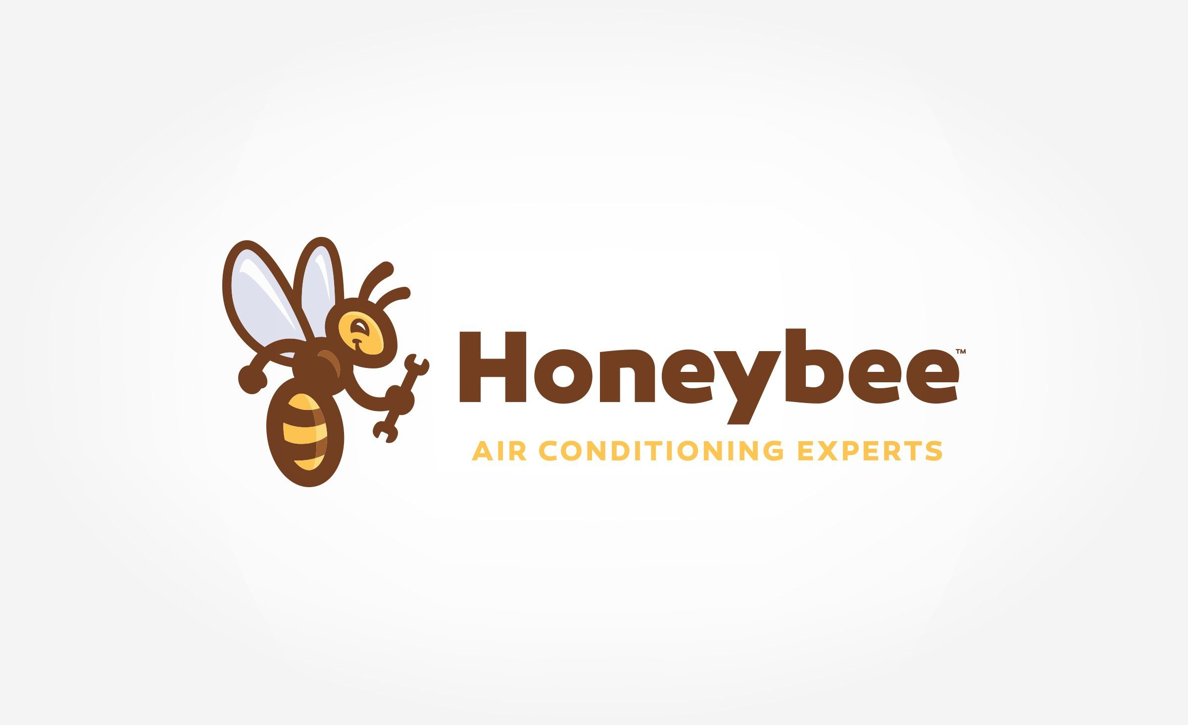 Logo design for Honeybee Air Conditioning Experts, a Heating and Air…