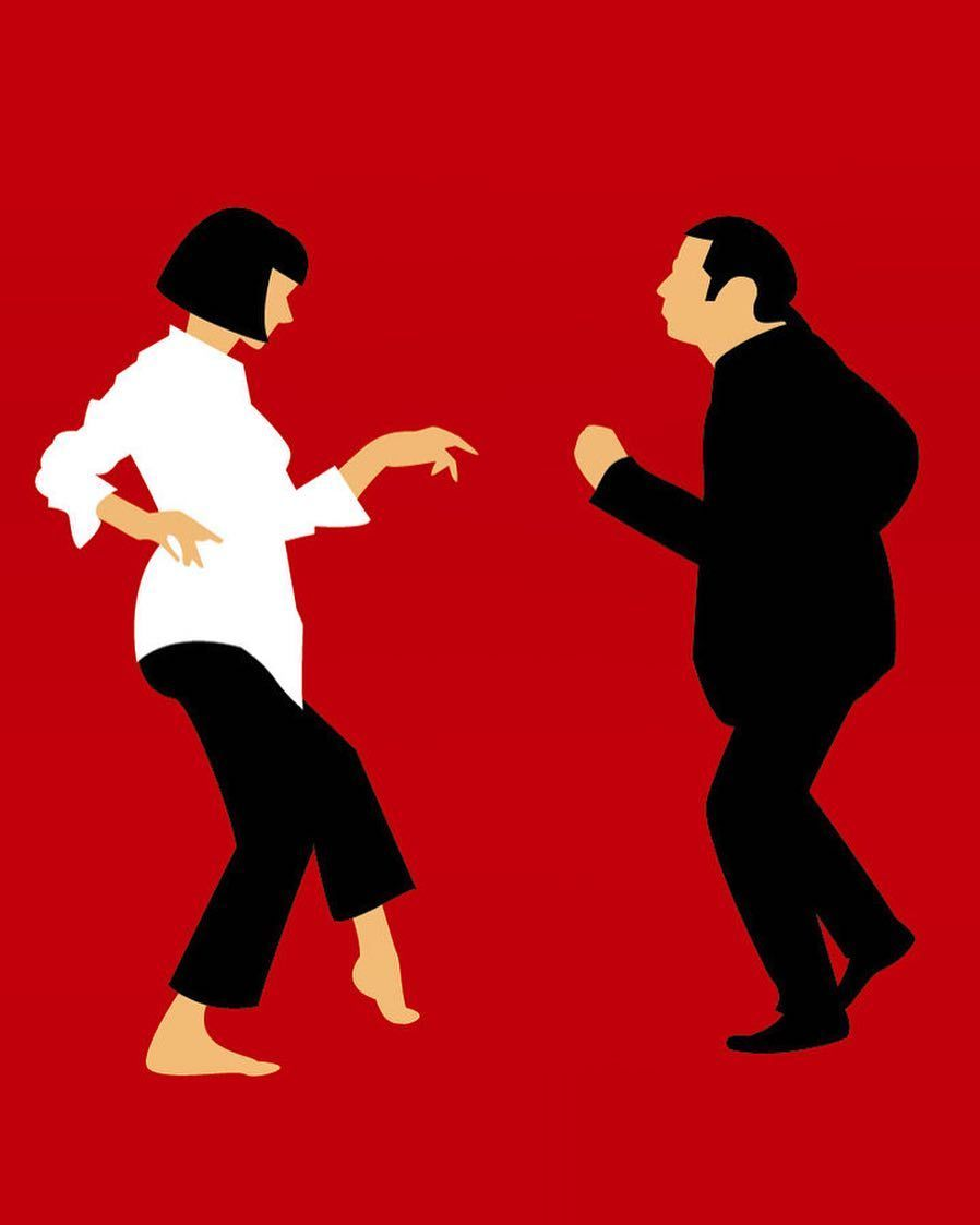 Pulp Fiction Dance Off Wall Poster Prints Film Gloss Pictures