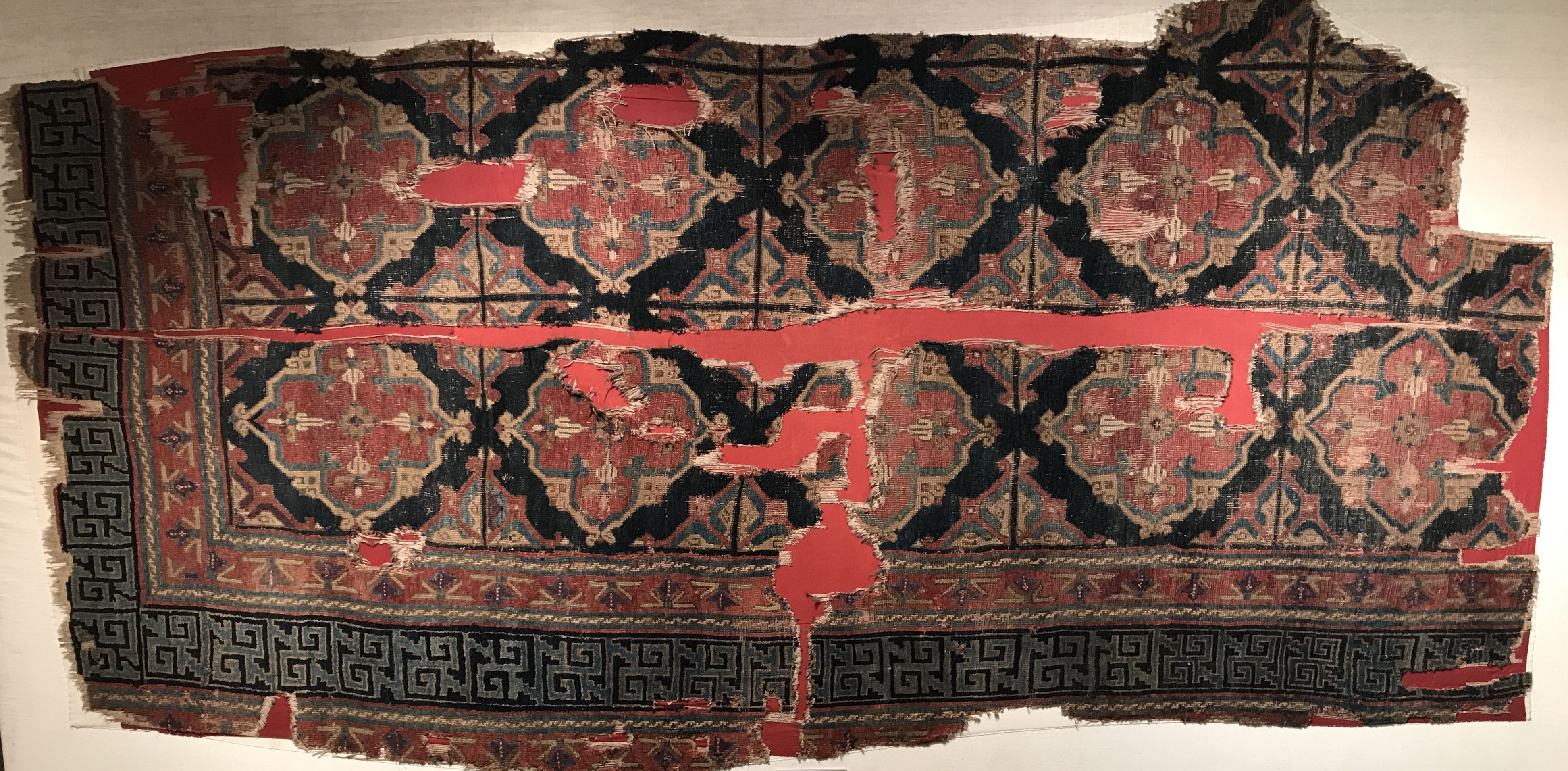 Selcuk Carpet Fragment From Central Turkey This Piece Is Now Located At The Etnografya Museum In Konya Turkey Age Circa 1300 Antique Rugs Persian Rug Rugs