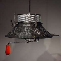 Vintage Trashy Lighting - Gilles Eichenbaum Recycles Kitchenware into Unusual Light Fixtures (GALLERY) - via http://bit.ly/epinner