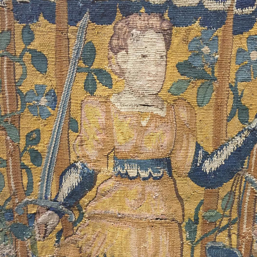 Wonderful tapestry fragment now available in T138! http://gaslampantiques.com/#GaslampToo #GasLampToo #antiques #vintage #tapestry