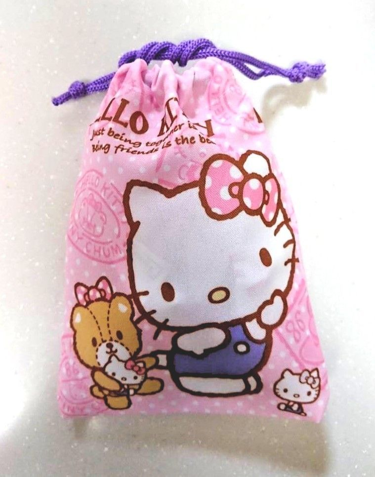 b0b9835bc Sanrio Hello Kitty 💛kawaii💛 Drawstring Bag Mini Pouchi Free shipping