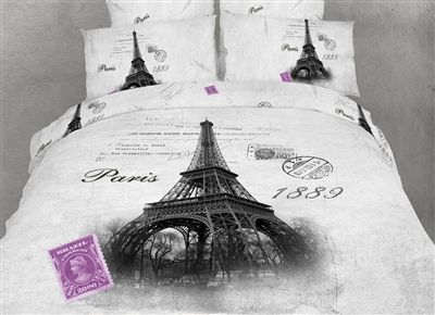 Eiffel - Paris France Duvet Bedding Set 6 Pc. FULL/QUEEN SIZE Duvet Cover Bedding Set - Visit our website at www.crystalcreekdecor.com for more sizes and selections on Paris Themed Home Decor at great prices!  Also be sure to join our mailing list for upcoming offers, new products and special package deals.