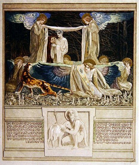 Franz von Bayros, Paradijs Canto XXXIII, Dedication to Cangrande della Scala