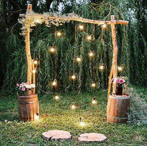 Baocicco 7x7ft Rustic Style Engagement Ceremony Backdrop Stunning Wedding Arch Decorations Twinkle Lights Floral Bouquets Background Wedding Date Valentines Day Lover Couples Portrait Studio Props